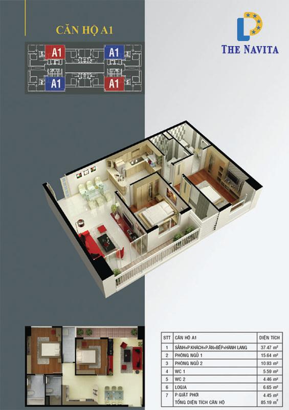 căn hộ A1 NAVITA