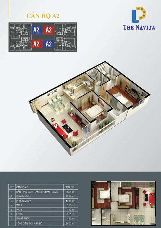 căn hộ A2 NAVITA