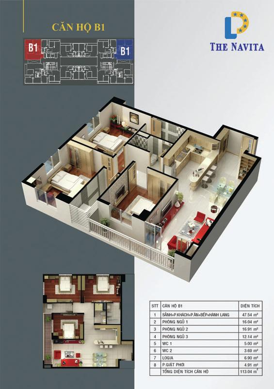 căn hộ B1 NAVITA