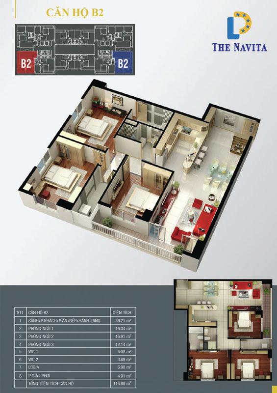 căn hộ B2 NAVITA